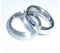 Partner ringen witgoud diamant klemzetting